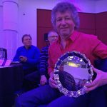 Steve Kirby accepts award for best in show for MGB V8