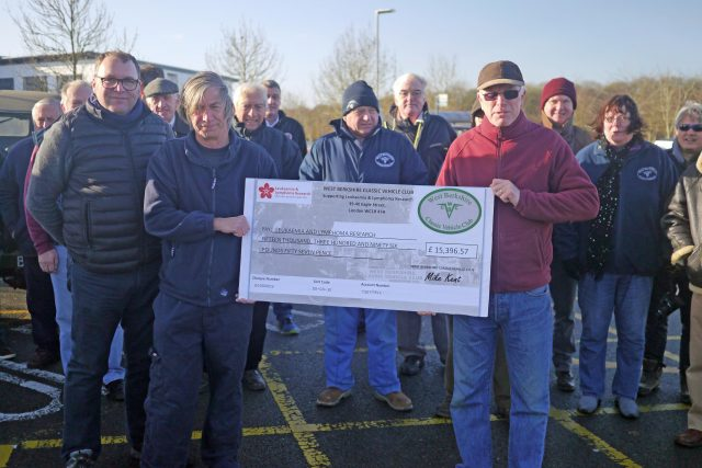 WBCVC members present cheque for £15,396 to Bloodwise
