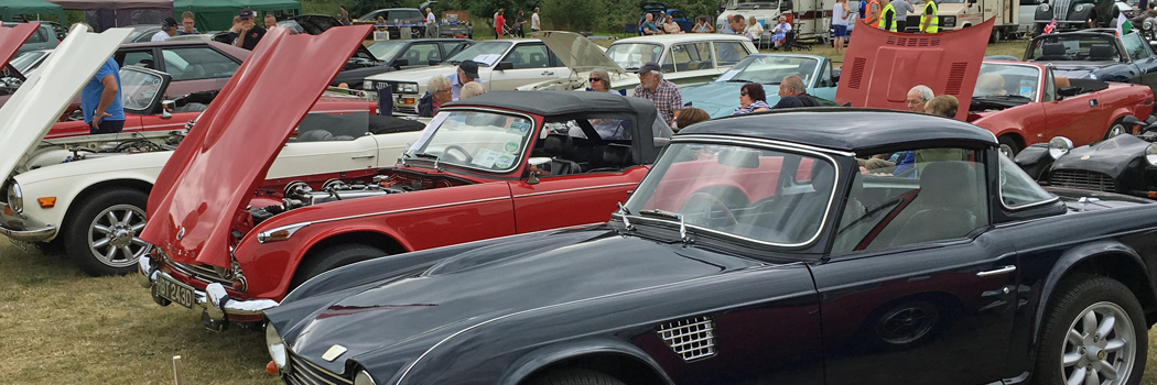 Triumphs on display at Club's 2016 classic vehicle show
